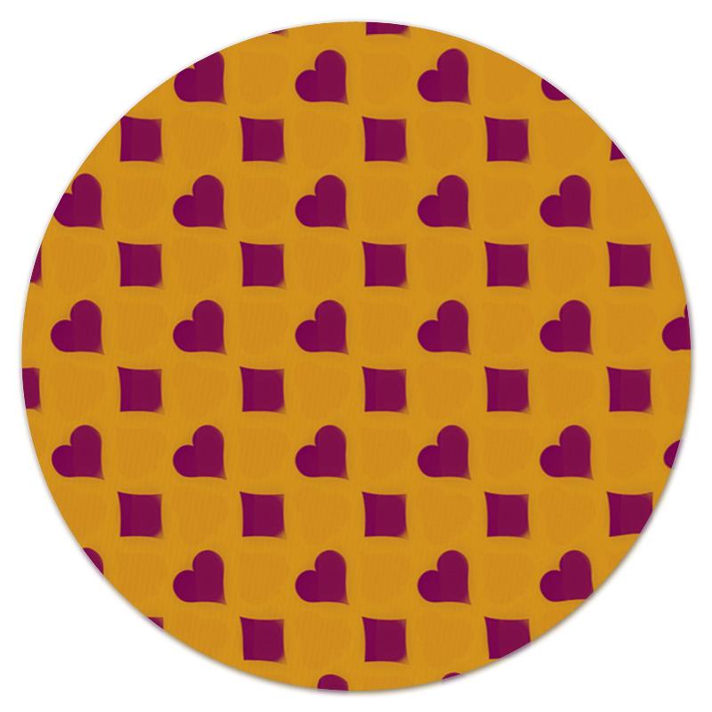 Коврик для мышки (круглый) Printio Сердца и ромбы