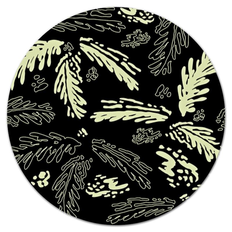 Коврик для мышки (круглый) Printio Листья коврик для мышки круглый printio кленовые листья