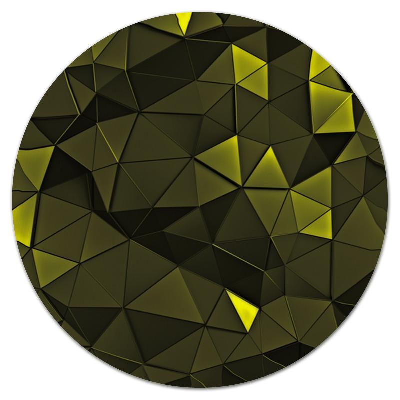 Коврик для мышки (круглый) Printio Стекло зеленое