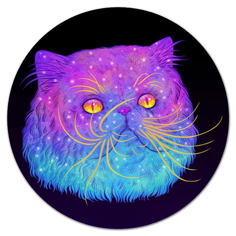 Коврик для мышки (круглый) Printio Галактический кот коврик для мышки printio кошка в лучах ссср