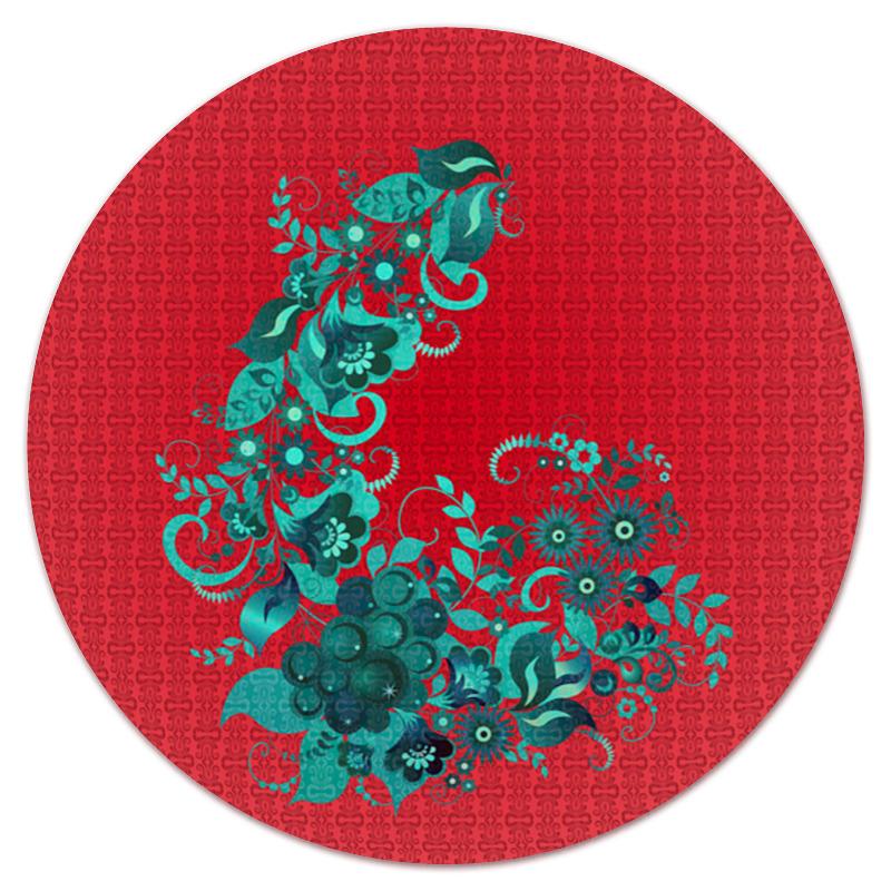 Коврик для мышки (круглый) Printio Цветочный узор
