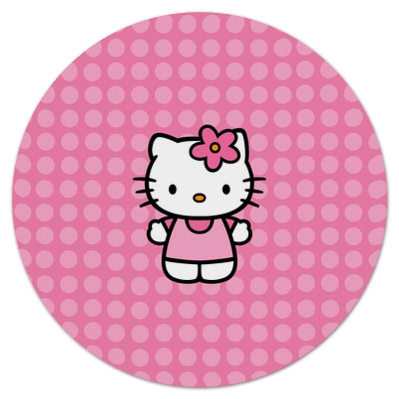Коврик для мышки (круглый) Printio Kitty в горошек коврик для мышки printio kitty в горошек