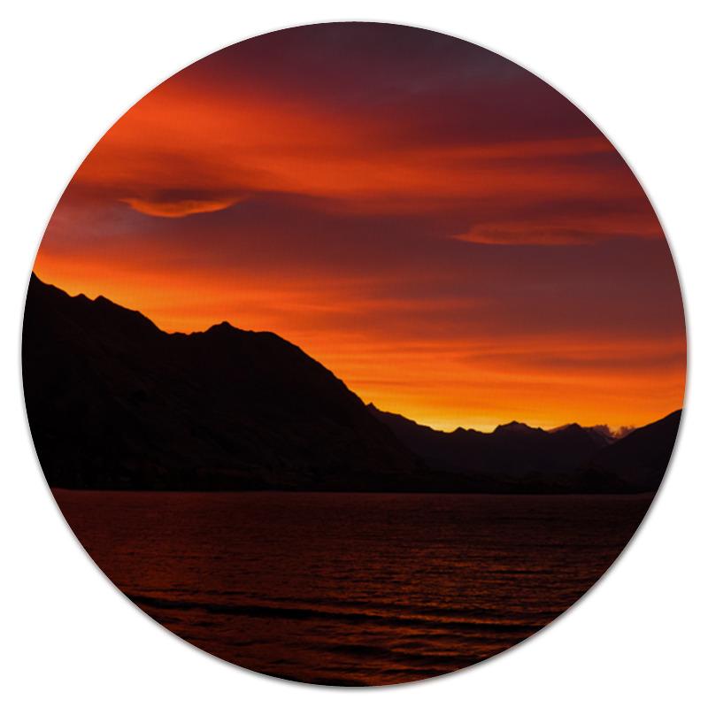 Printio Багряный закат коврик для мышки круглый printio закат солнца