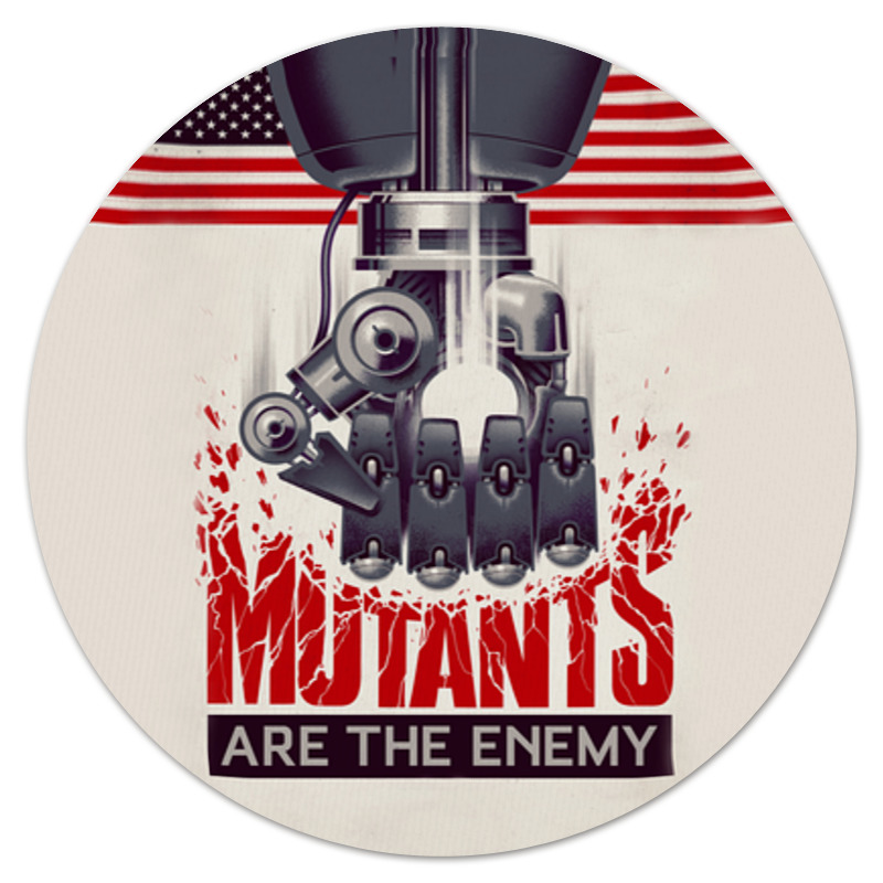 Коврик для мышки (круглый) Printio Мутанты алексеев с мутанты