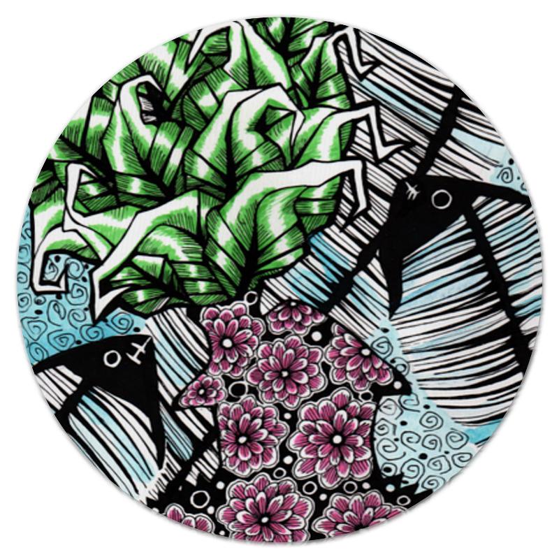Коврик для мышки (круглый) Printio Дымные водоросли