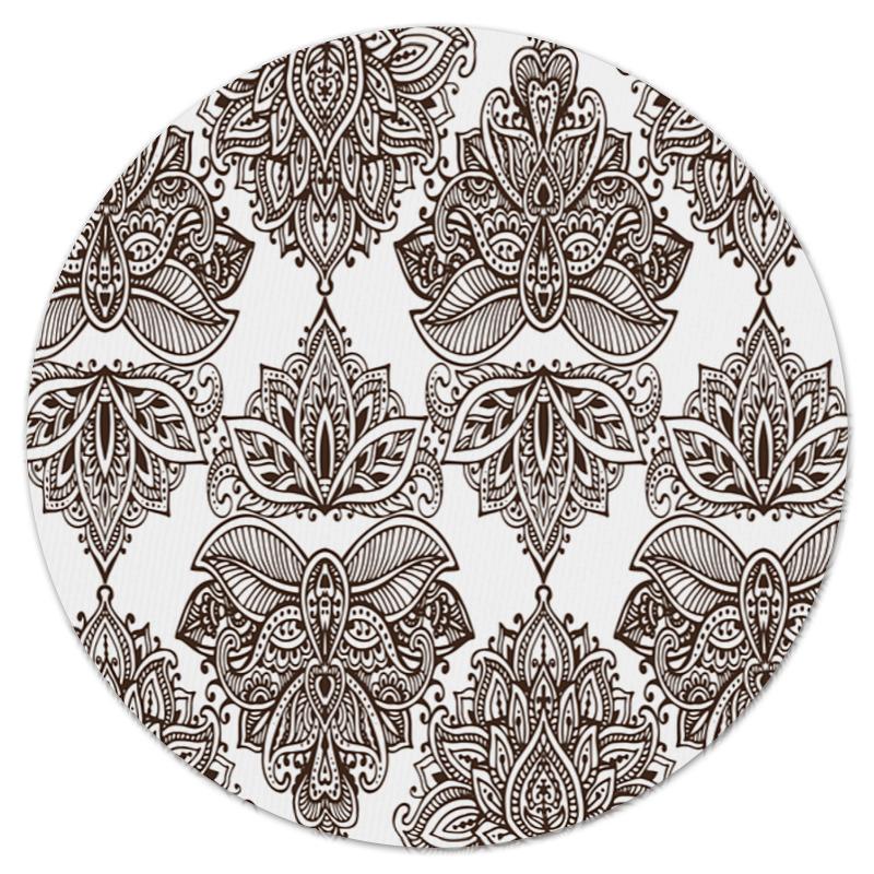 Коврик для мышки (круглый) Printio Черно-белые узоры юбка в складку printio черно белые узоры