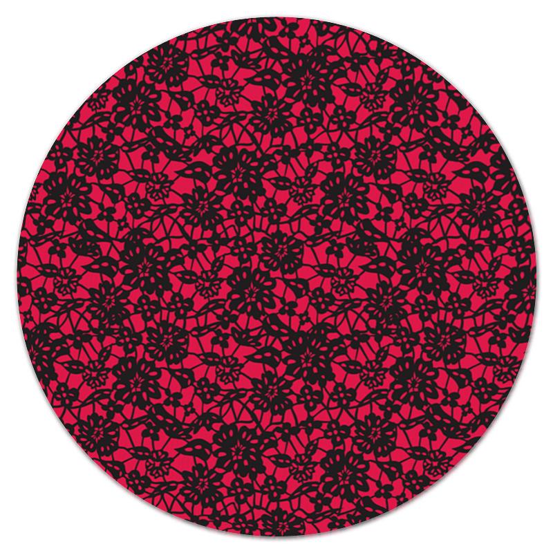 Коврик для мышки (круглый) Printio Красно-черный узор