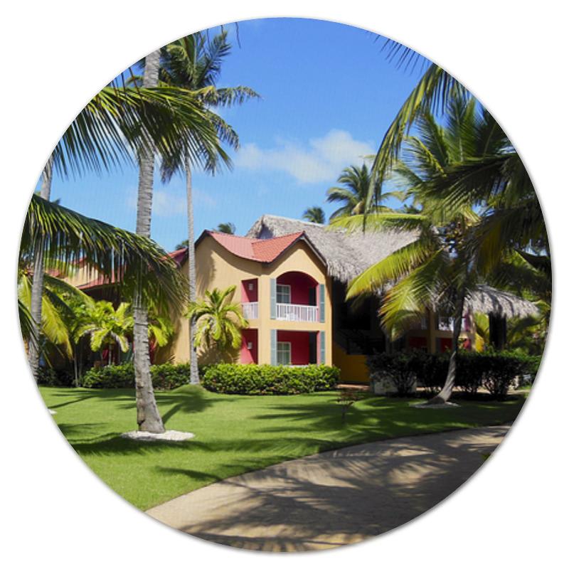 Коврик для мышки (круглый) Printio доминикана. тропический сад коврик для мышки круглый printio добро пожаловать на карибы