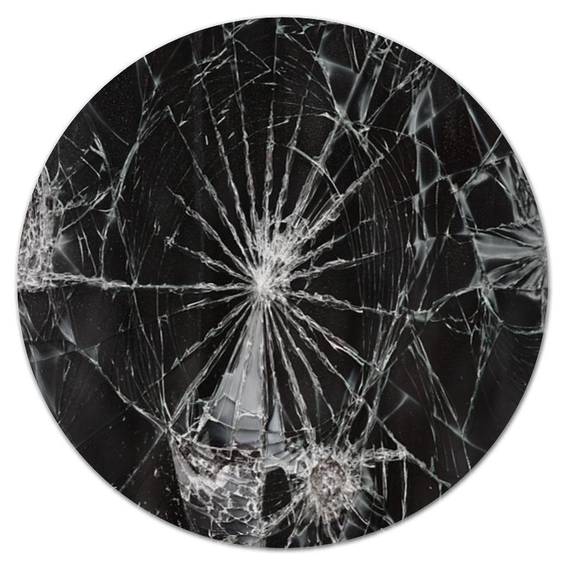 Коврик для мышки (круглый) Printio Разбитое стекло