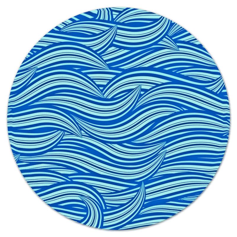 где купить Коврик для мышки (круглый) Printio Морские волны дешево
