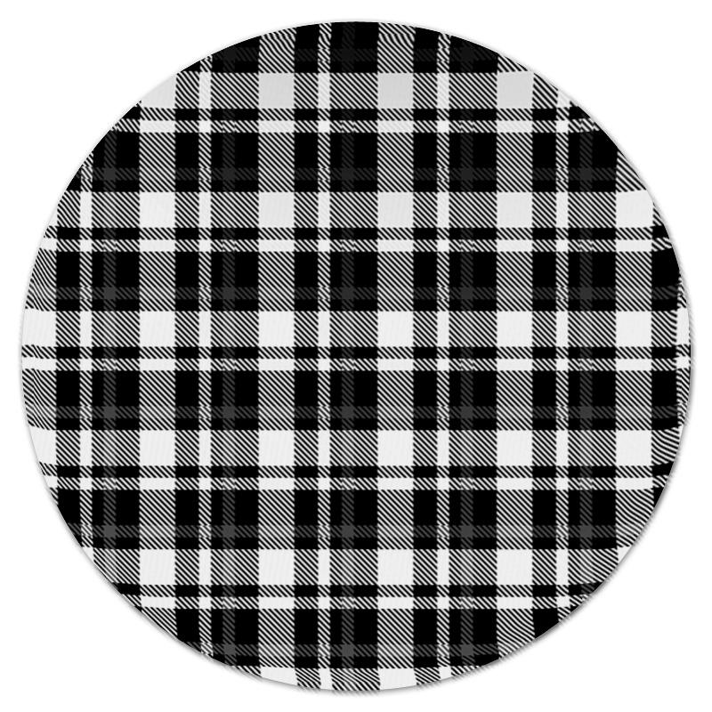 Коврик для мышки (круглый) Printio Черно-белая клетка
