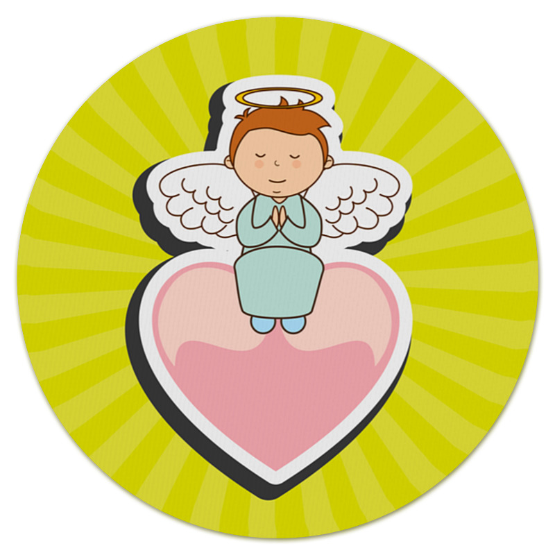 Коврик для мышки (круглый) Printio Ангелочек колокольчик бронзовый ангелочек
