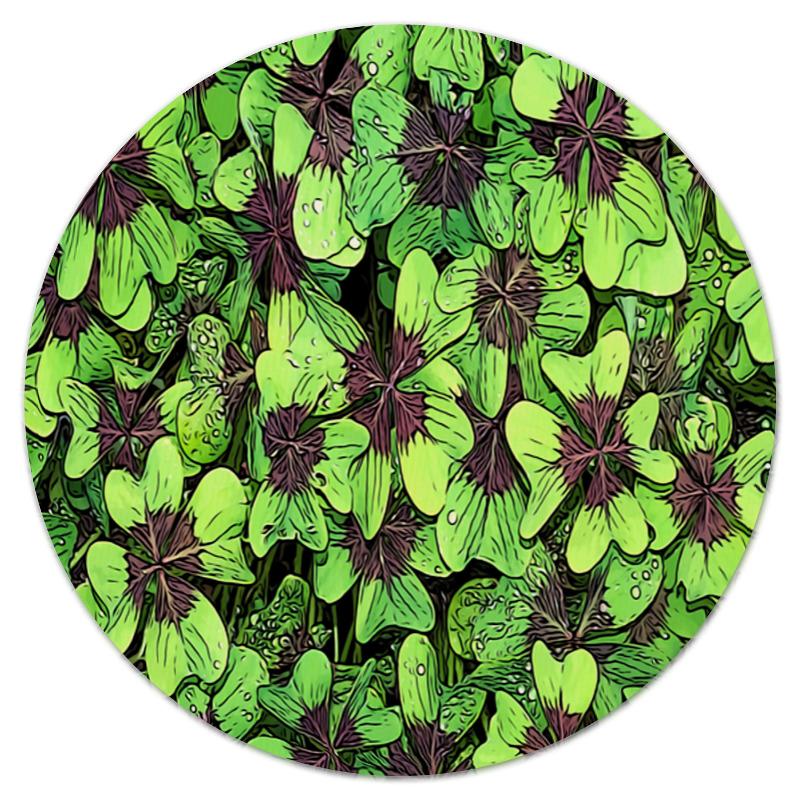 Коврик для мышки (круглый) Printio зеленые цветы коврик для мышки круглый printio цветы фэнтези