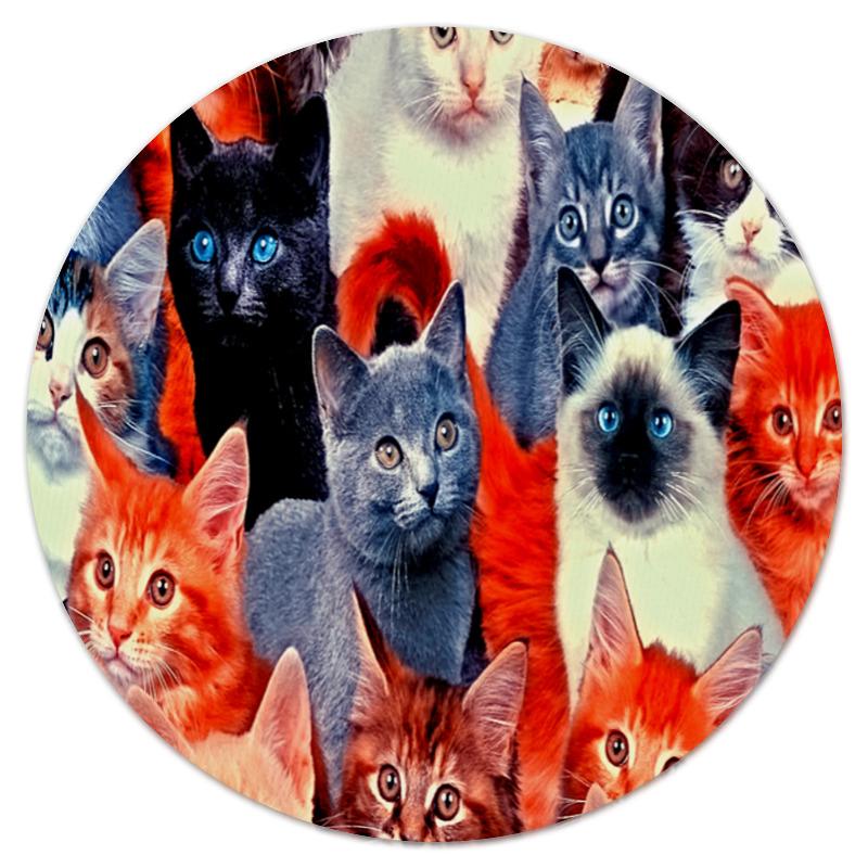 Коврик для мышки (круглый) Printio Кошечки
