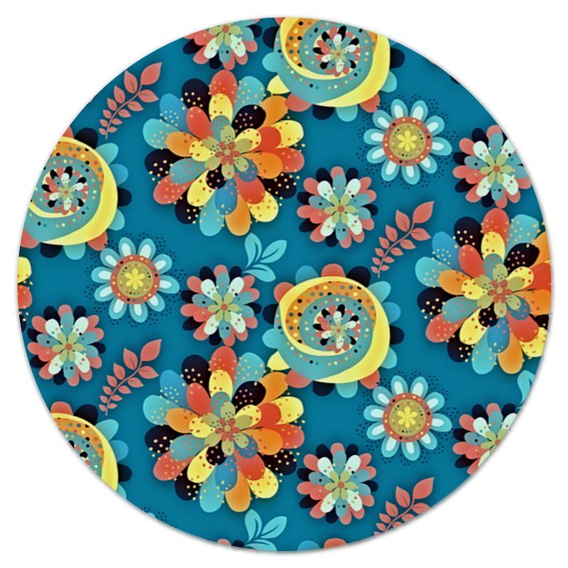 Коврик для мышки (круглый) Printio Цветы в красках щипцы для завивки rowenta cf2112