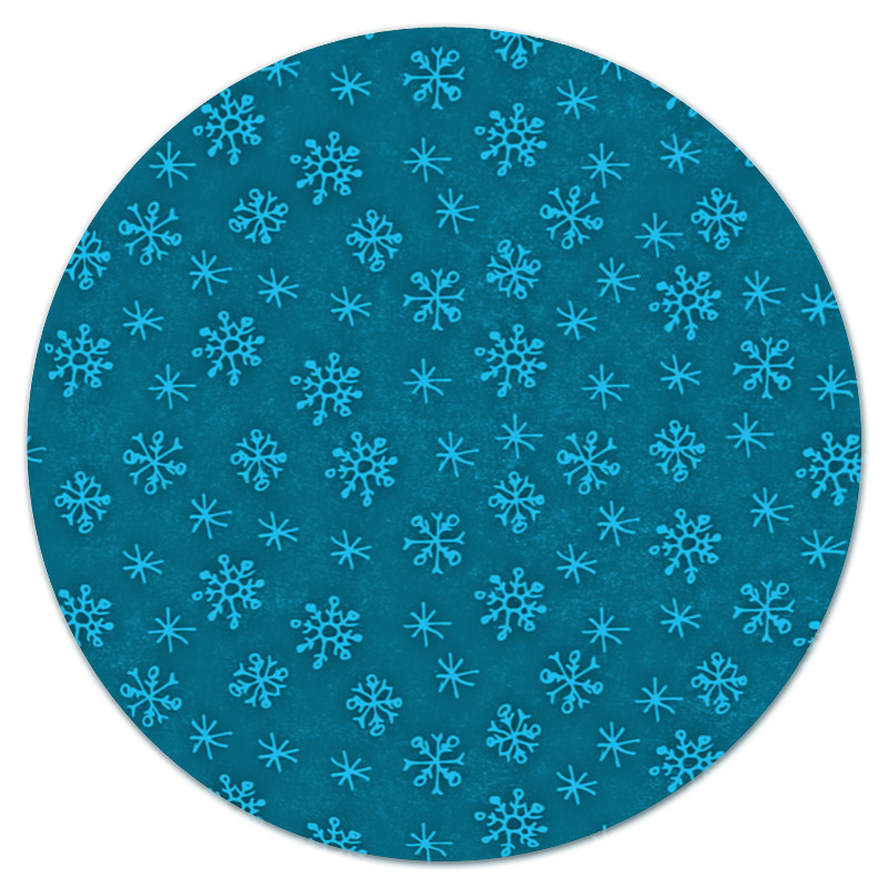 Коврик для мышки (круглый) Printio Зимний узор коврик для мышки printio winter forest зимний лес