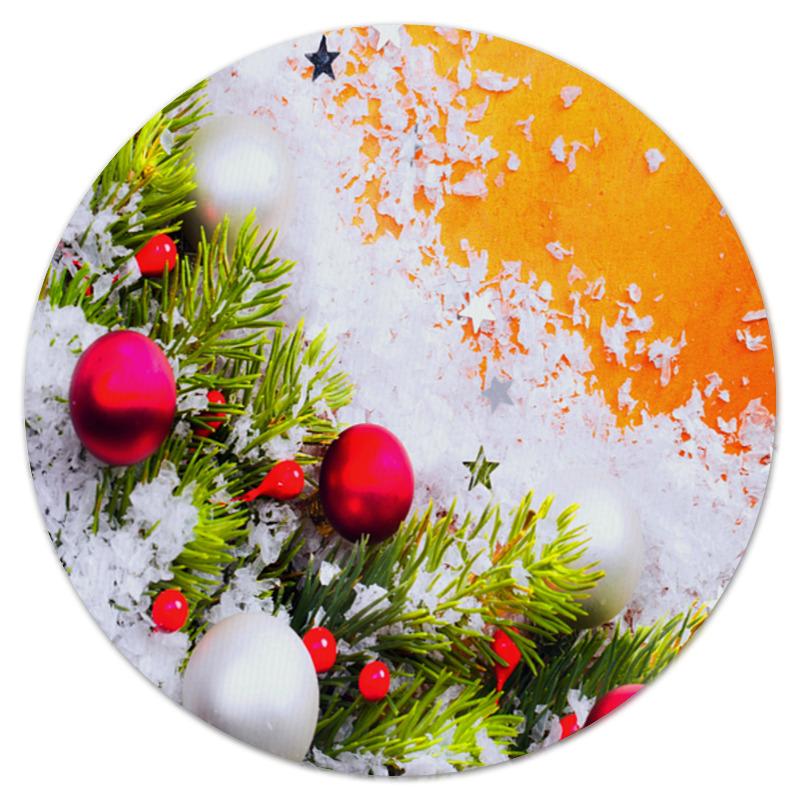 Коврик для мышки (круглый) Printio Игрушки на елке мария манакова игрушки на елке