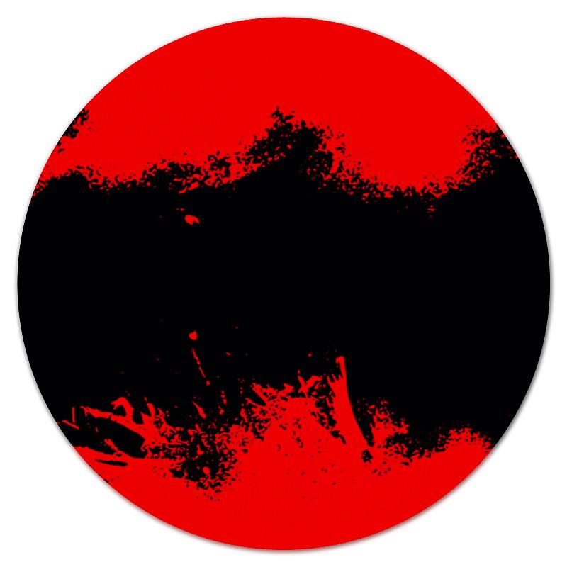 Коврик для мышки (круглый) Printio Черно-красные краски bebendorff ботинки зимние карл черно красные