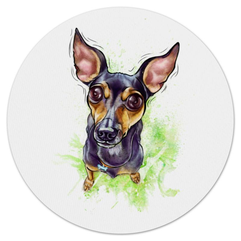 Коврик мышки (круглый) Printio Собака -терьей