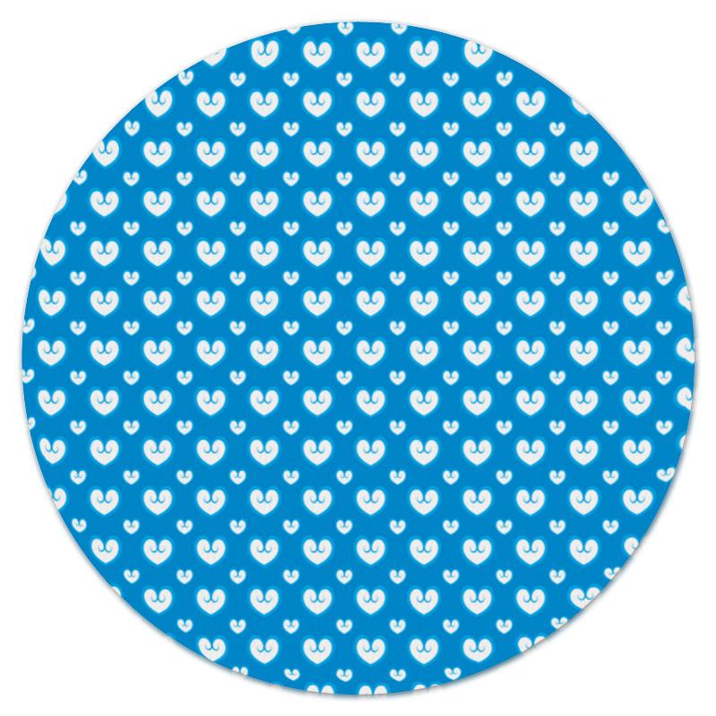 Коврик для мышки (круглый) Printio Белые сердечки коврик для мышки круглый printio сердечки