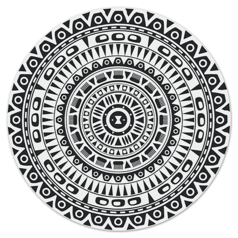 Коврик для мышки (круглый) Printio Орнамент коврик для мышки круглый printio орнамент
