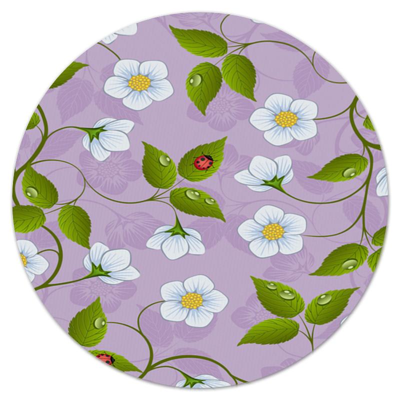 Коврик для мышки (круглый) Printio Цветки клубники укрывной материал от сорняков для клубники купить