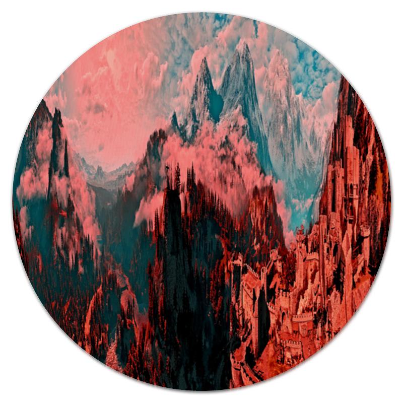 Коврик для мышки (круглый) Printio Крепость в горах коврик для мышки круглый printio волк в горах