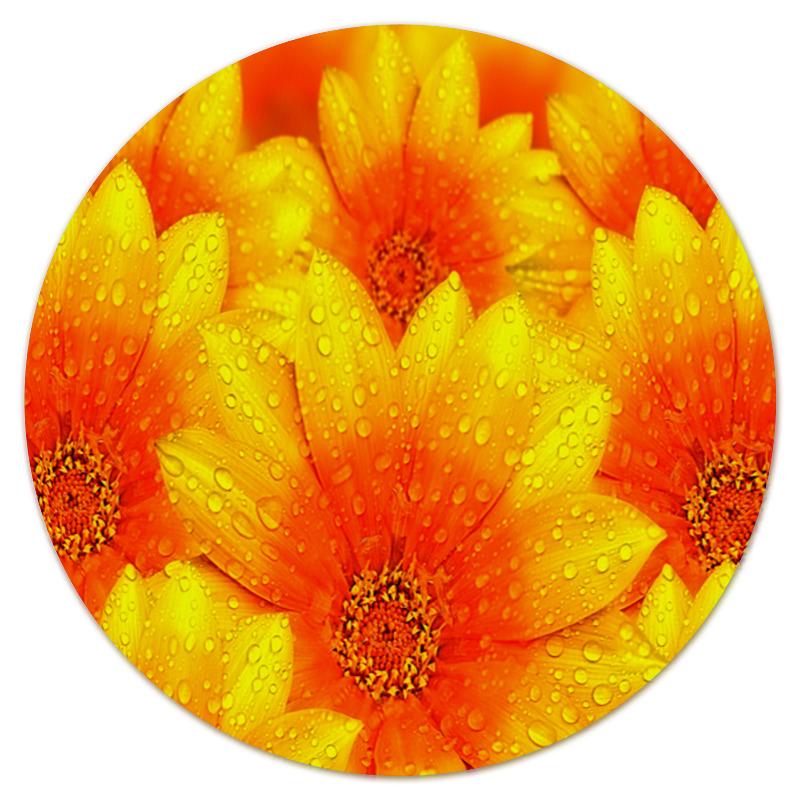 Коврик для мышки (круглый) Printio Желтые цветы коврик для мышки printio цветы мака
