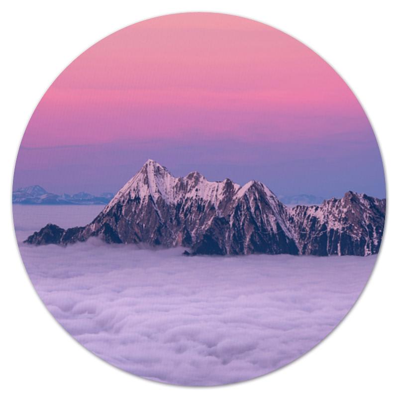 Коврик для мышки (круглый) Printio Горы и облака коврик для мышки printio горы у берега