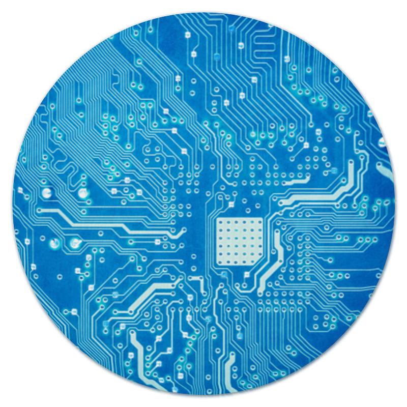 Коврик для мышки (круглый) Printio Системная плата