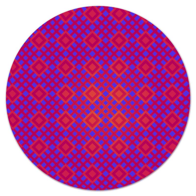 Коврик для мышки (круглый) Printio Розовая клетка