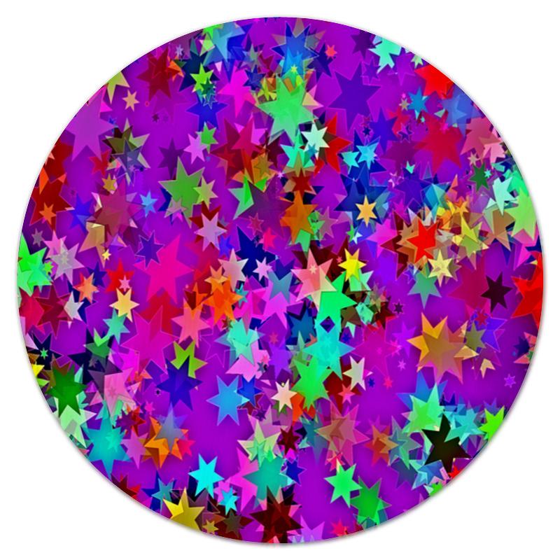 Коврик для мышки (круглый) Printio Звездное конфетти коврик для мышки круглый printio звездное небо