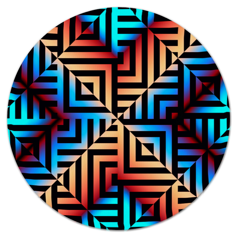 Фото - Printio Графическая мозаика коврик для мышки круглый printio мозаика
