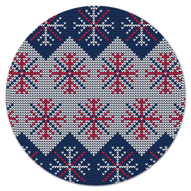 Коврик для мышки (круглый) Printio Цветные снежинки коврик для мышки круглый printio козел