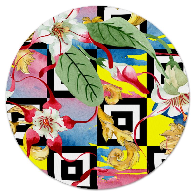 Printio Цветочный узор коврик для мышки круглый printio цветочный узор