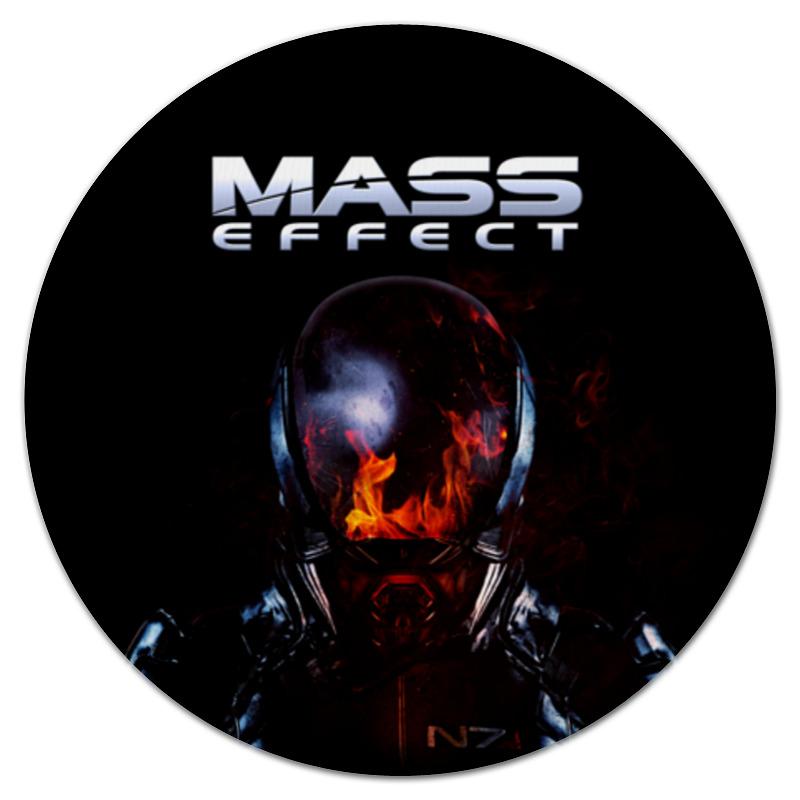 Коврик для мышки (круглый) Printio Mass effect
