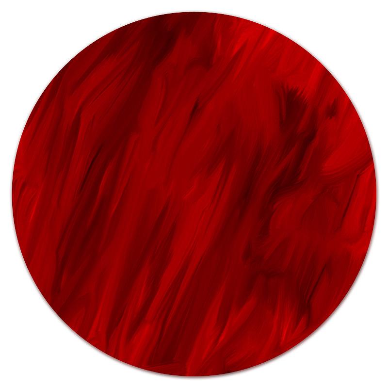 Коврик для мышки (круглый) Printio Красные краски коврик для мышки круглый printio черно красные краски