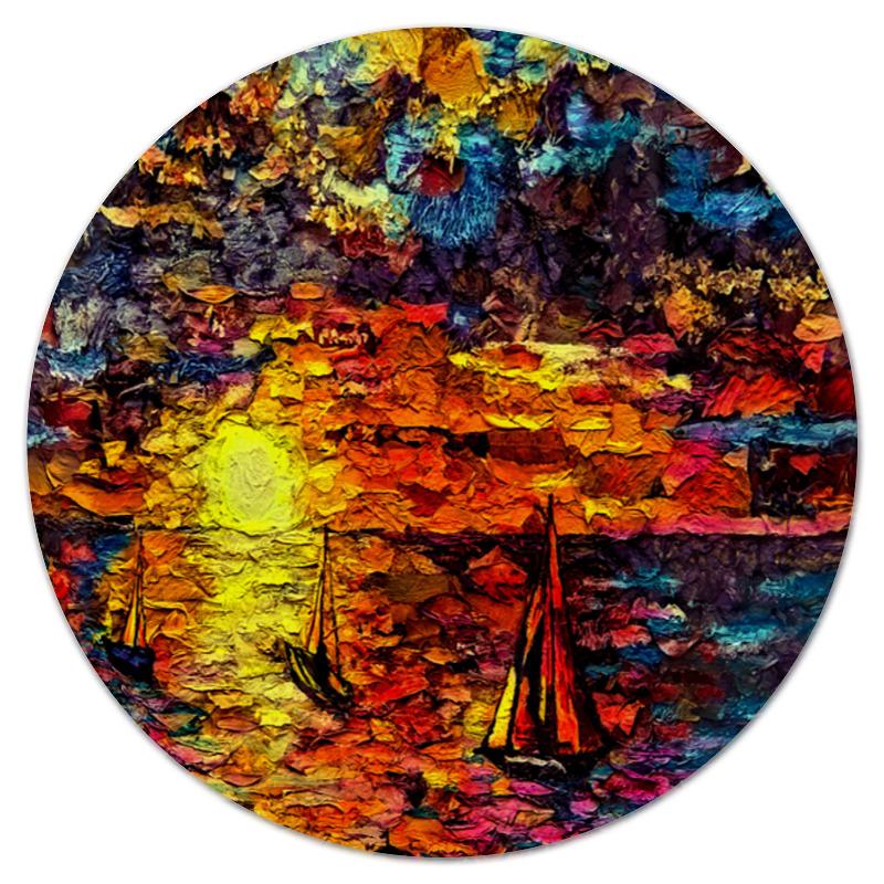 Коврик для мышки (круглый) Printio Корабли