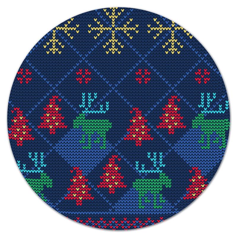 Коврик для мышки (круглый) Printio Олени и елки коврик для мышки printio снежные елки