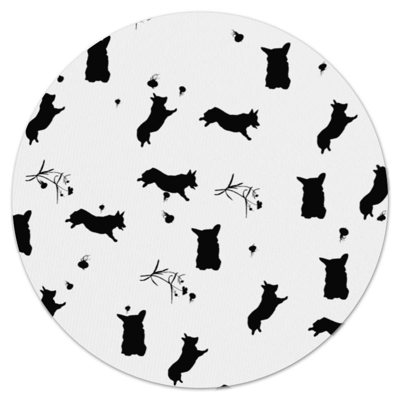 Коврик для мышки (круглый) Printio Корги в черном цена и фото