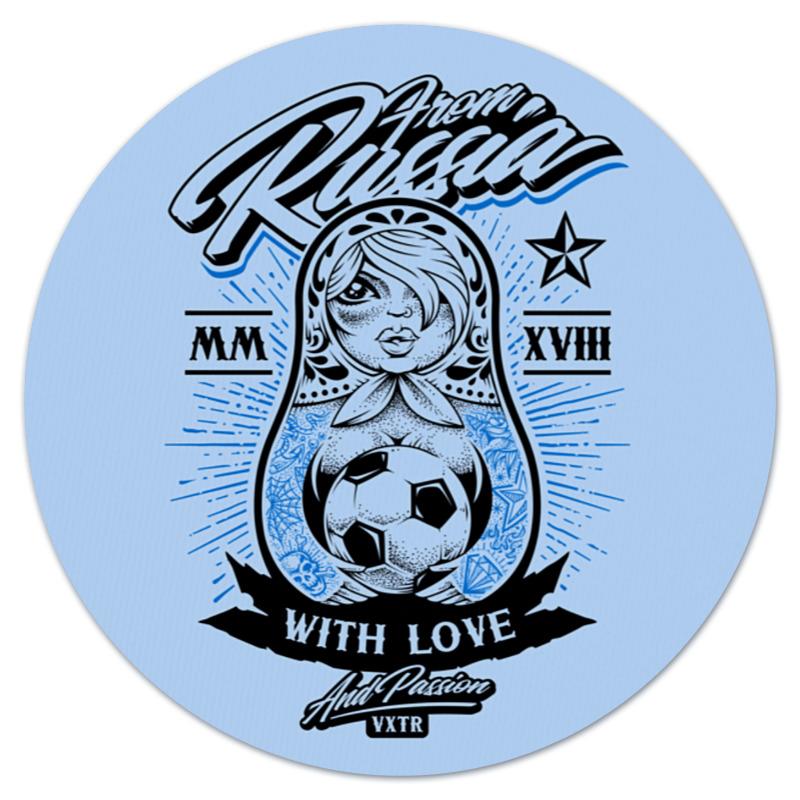 Коврик для мышки (круглый) Printio Футбол коврик для мышки круглый printio герб россии