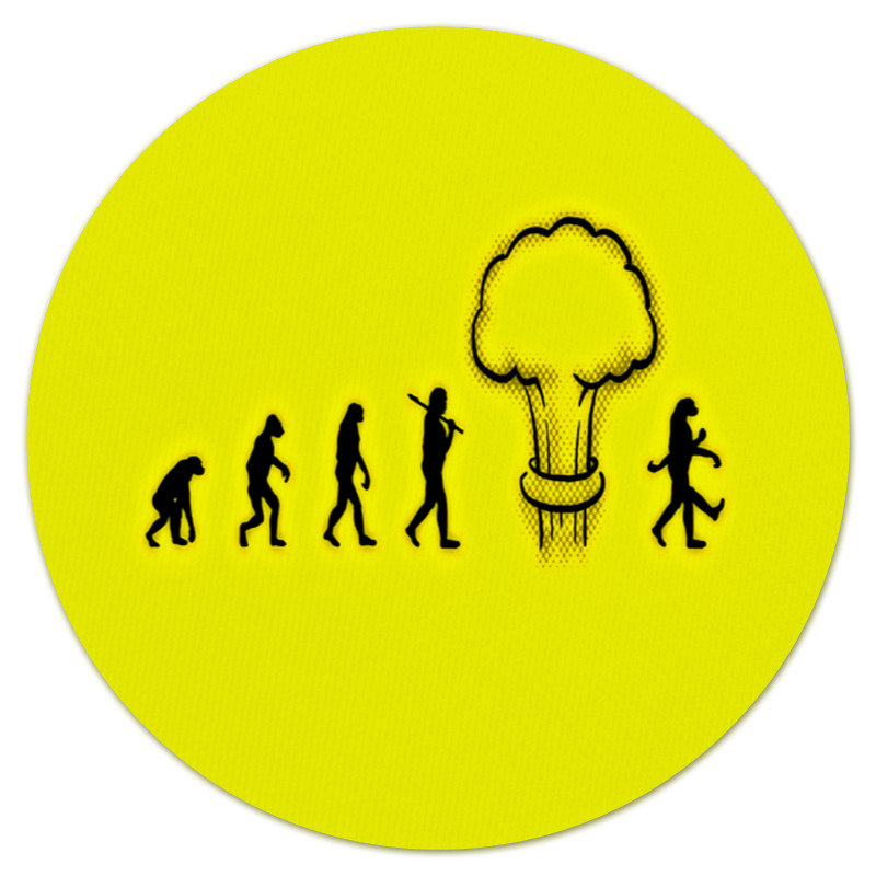 Коврик для мышки (круглый) Printio Эволюция