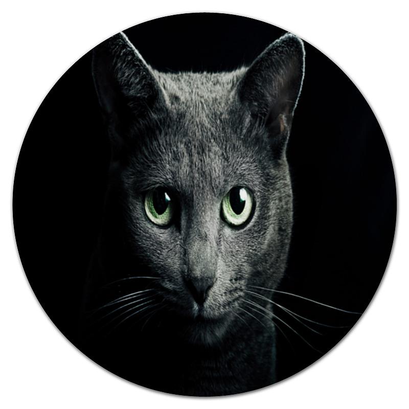 Коврик для мышки (круглый) Printio Серый кот