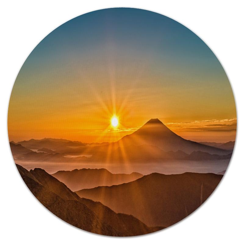 Коврик для мышки (круглый) Printio Закат в горах наборы для поделок цветной алмазная мозаика закат на озере в горах