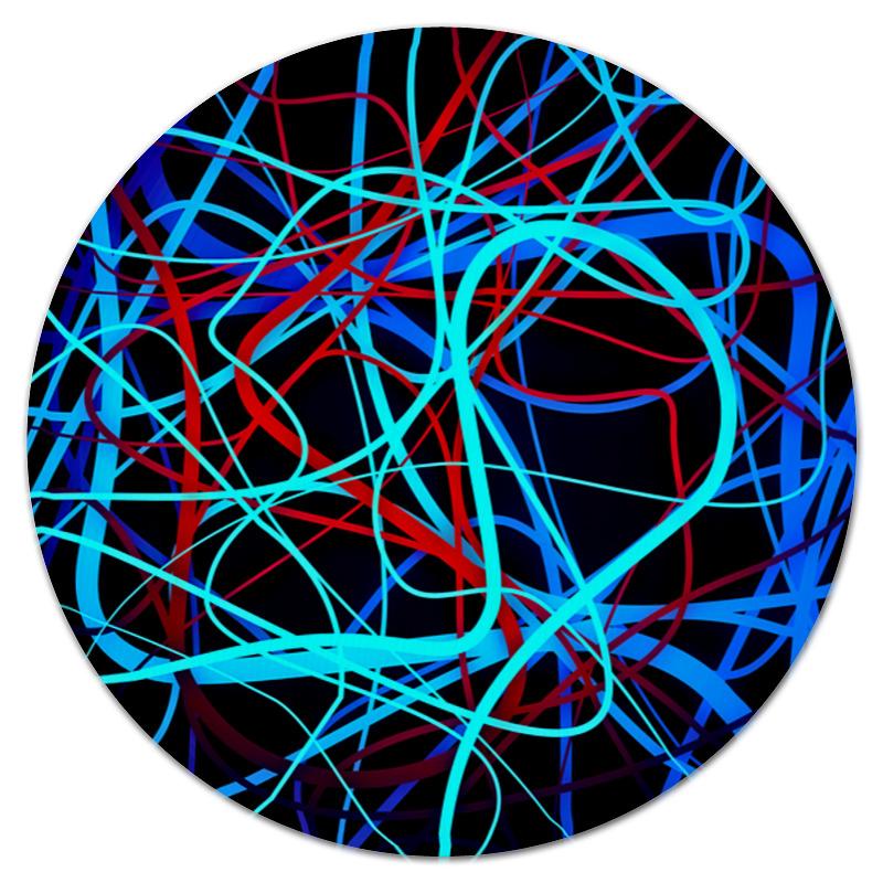 Коврик для мышки (круглый) Printio Переплетение линий коврик для мышки круглый printio козел