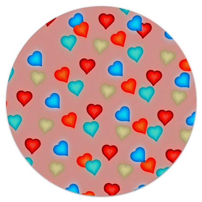 Коврик для мышки (круглый) Printio Сердечки коврик для мышки круглый printio сердечки