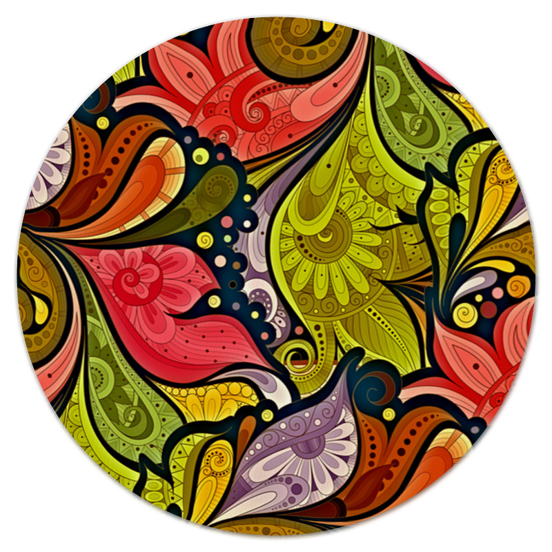 Printio Цветочная роспись коврик для мышки printio роспись на черепе