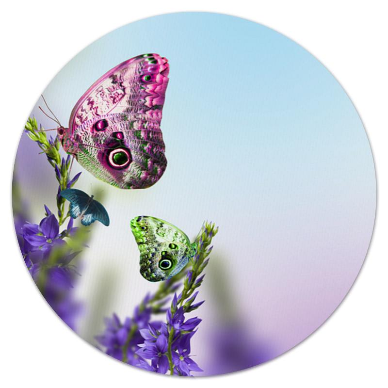 Коврик для мышки (круглый) Printio Бабочки коврик для мышки printio бабочки