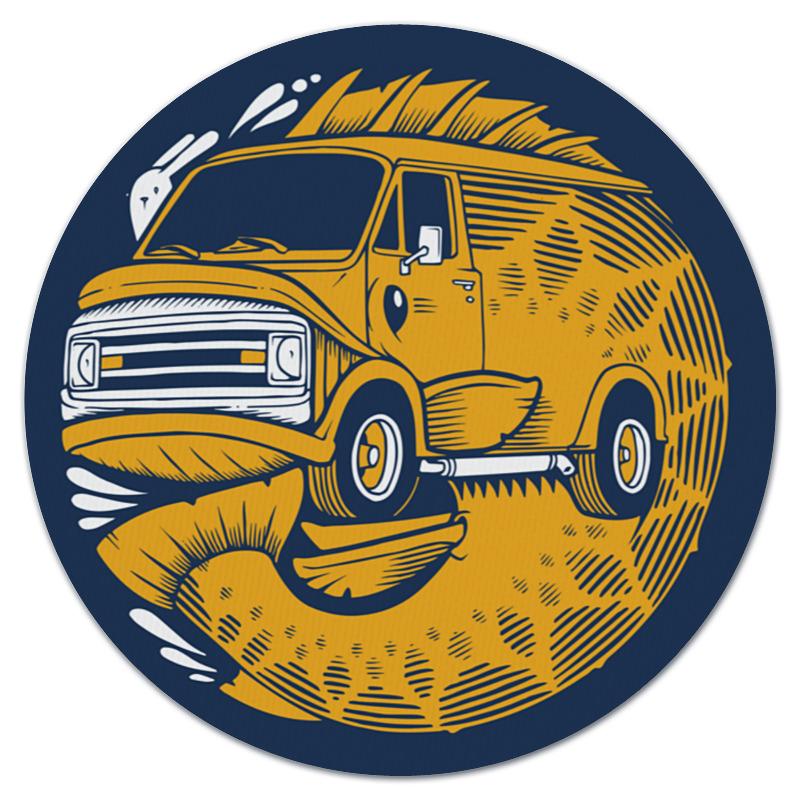 Коврик для мышки (круглый) Printio Fish bus / рытобус (рыба автобус)