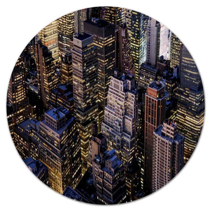 Коврик для мышки (круглый) Printio Здания города коврик для мышки круглый printio козел